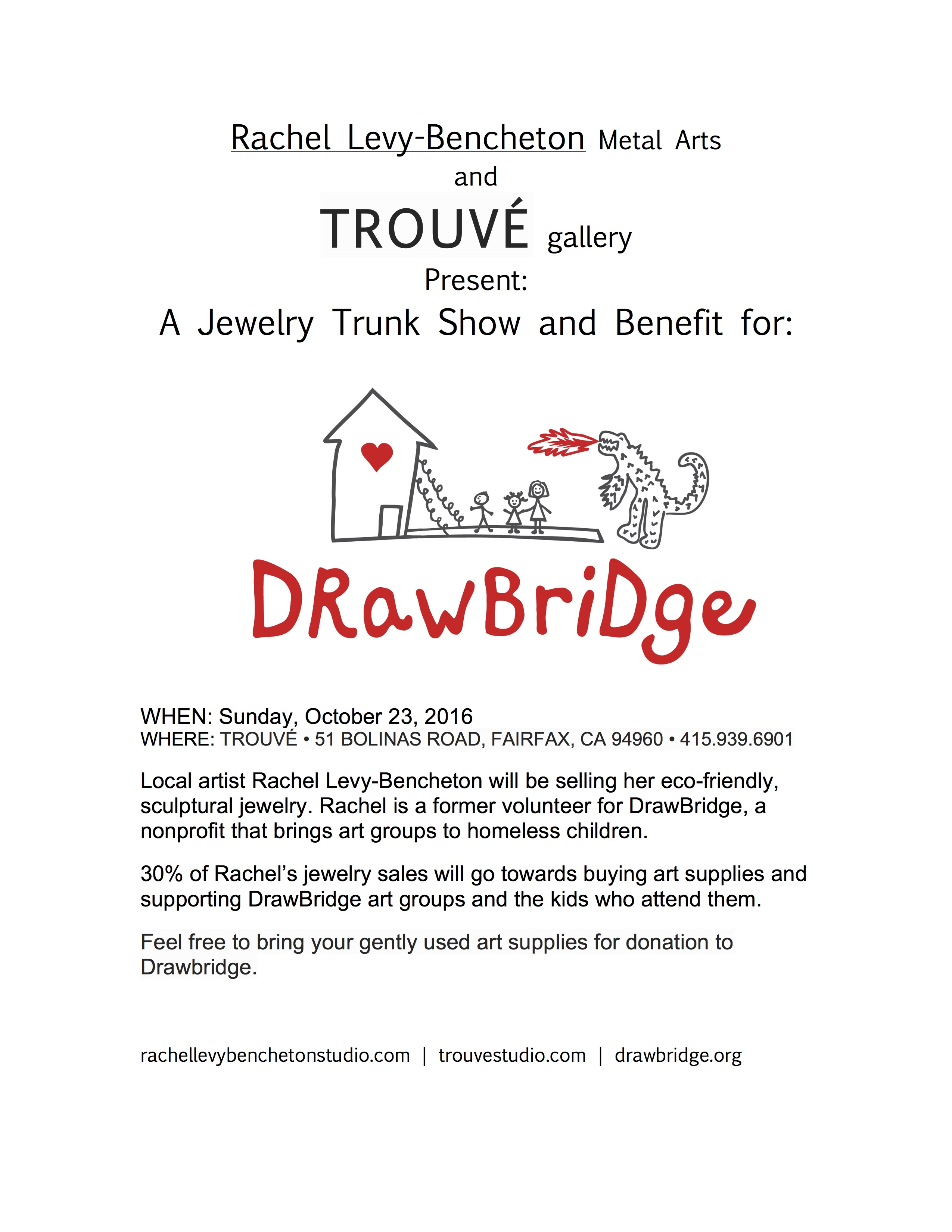 Jewelry Sale A Benefit for DrawBridge!